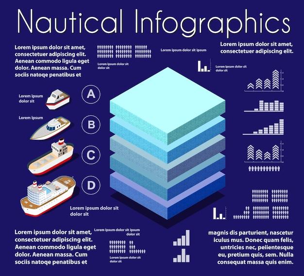 Infographics nautische aard geologische en ondergrondse grondlagen onder het isometrische deel van het natuurlijke landschap