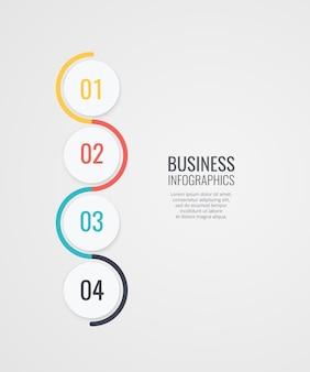 Infographics ontwerp met nummer opties sjabloon