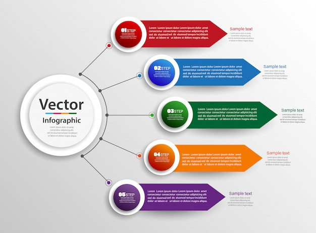 Infographics ontwerpconcept met stappen