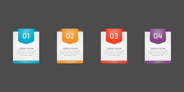 Infographics ontwerpsjabloon elementen