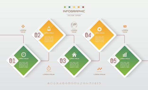 Infographics ontwerpsjabloon met pictogrammen