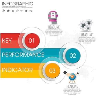 Infographics ontwerpsjabloon met stap