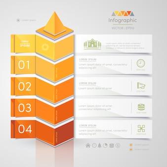 Infographics ontwerpsjabloon met zakelijke pictogrammen