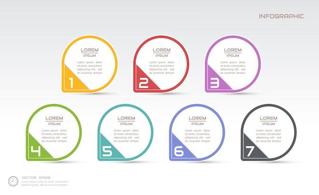Infographics ontwerpsjabloon, procesdiagram
