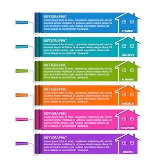 Infographics ontwerpsjabloon.