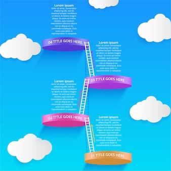 Infographics-ontwerpvector en marketingpictogrammen kunnen worden gebruikt voor de indeling van de werkstroom workflow