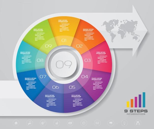 Infographics pijl grafiek ontwerpelement.
