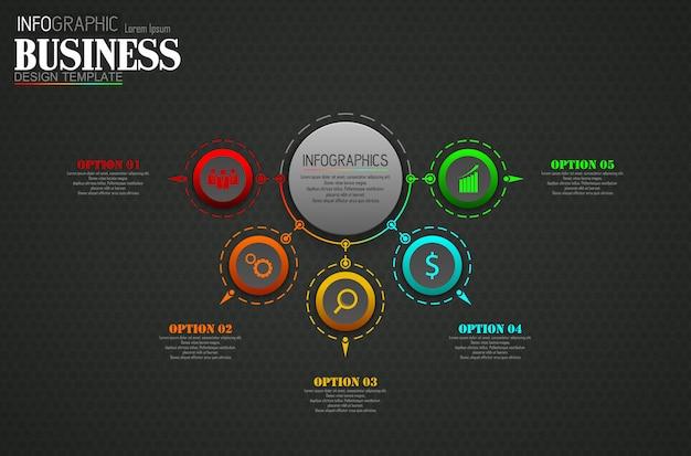 Infographics sjabloon bedrijfsconcept