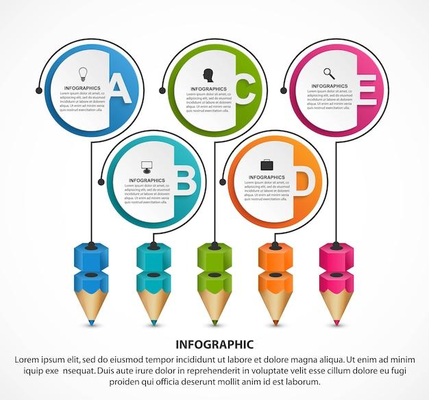 Infographics sjabloon met getallenoptie voor zakelijke presentaties.