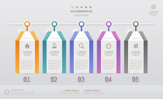 Infographics sjabloon met pictogrammen