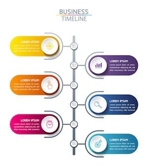 Infographics. stappen of processen. opties nummer workflow sjabloonontwerp. 6 stappen.