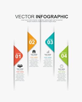 Infographics tijdlijn elementen ontwerpsjabloon