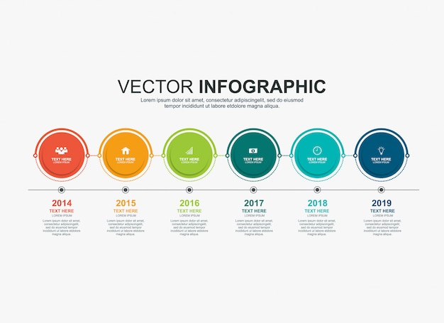 Infographics tijdlijn ontwerpsjabloon