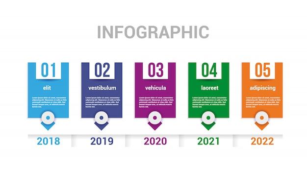 Infographics tijdlijnelementen.