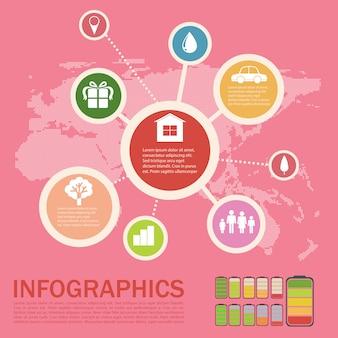 Infographics van een omgeving