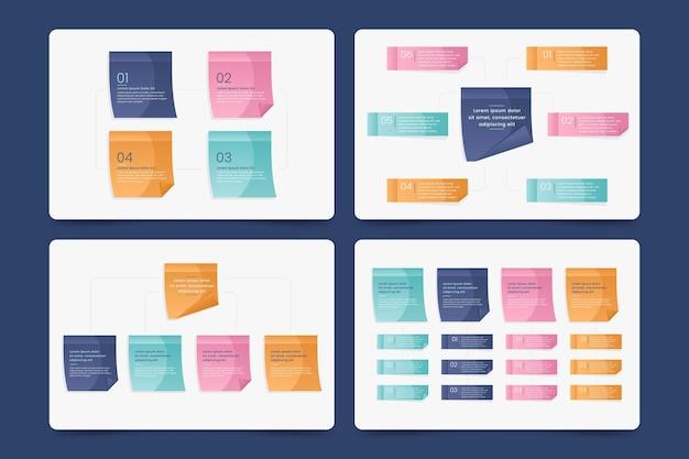Infographics van post-its boards