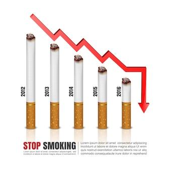Infographics van sigaretten