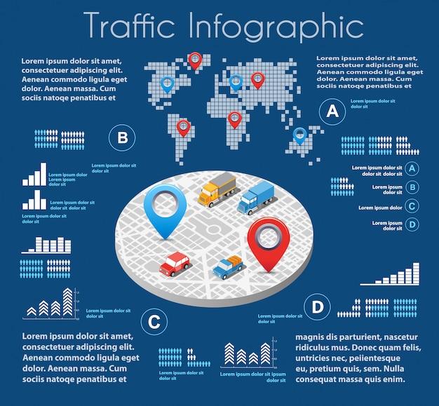 Infographics van stedelijke weg