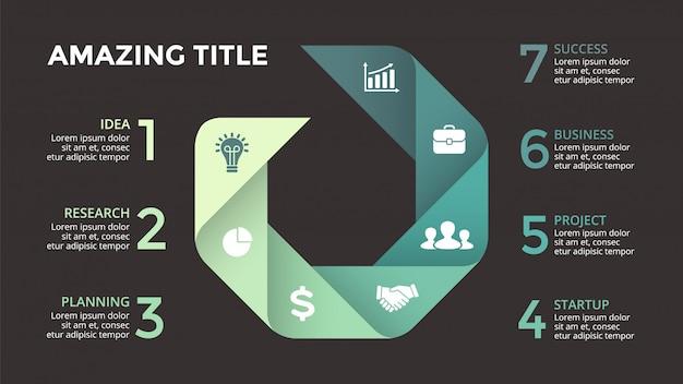 Infographics voor bedrijfsconcept. isometrisch infographic-ontwerp -