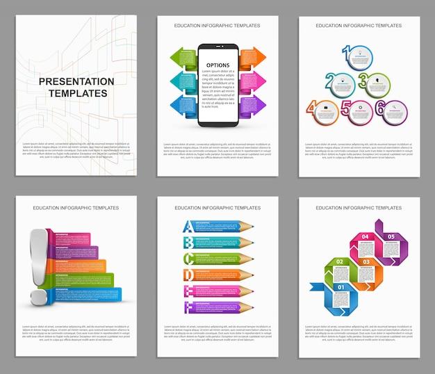 Infographics voor informatiebanner set