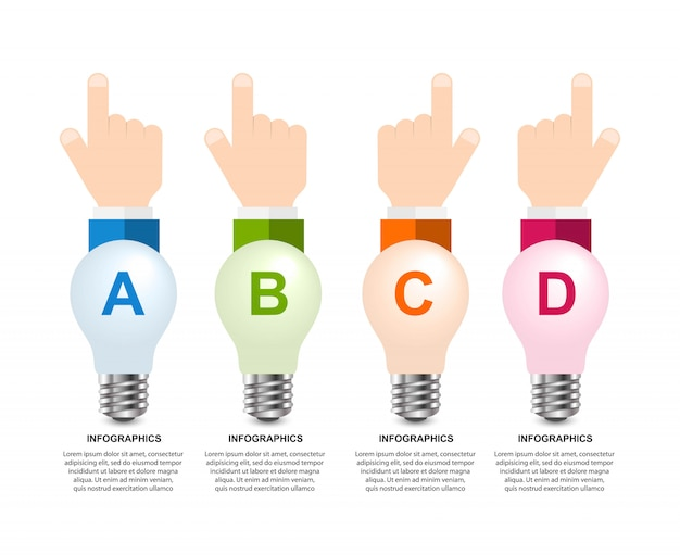 Infographics voor zakelijke presentaties of informatieboekje.