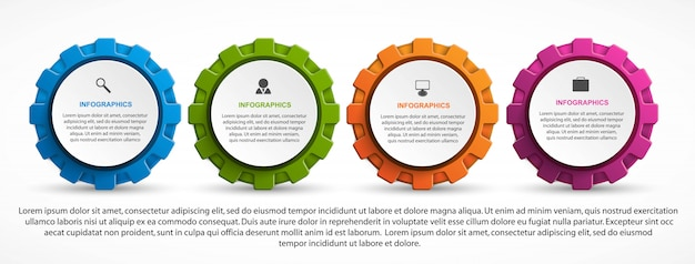 Infographics voor zakelijke presentaties.