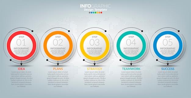 Infographics voor zaken met succesconcept.