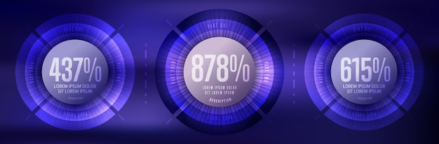 Infographics zakelijke elementen