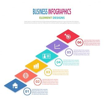 Infographics zakelijke sjabloon