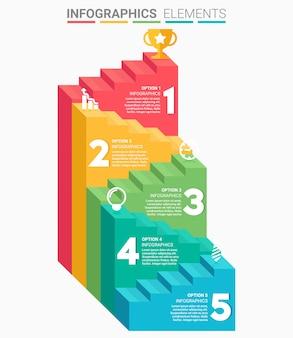 Infographics zakelijke trap