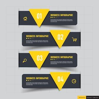 Infographicsontwerp met stappen.