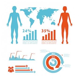 Infographicsontwerp over witte vectorillustratie als achtergrond