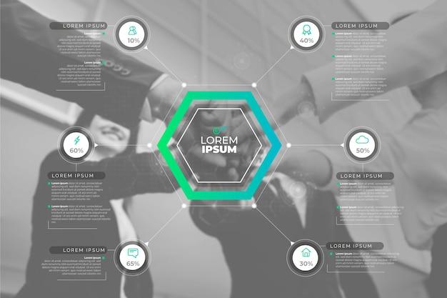 Infographiczaken met foto