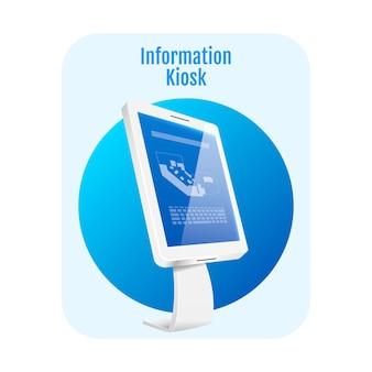 Informatie kiosk plat concept