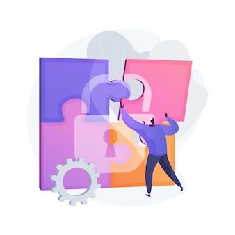 Informatie privacy abstract concept illustratie