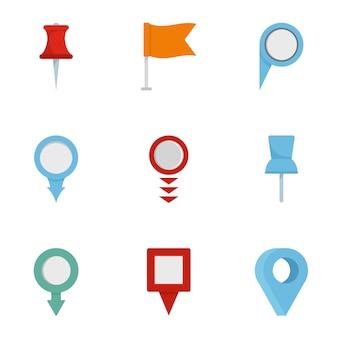 Informatie teken icon set, vlakke stijl