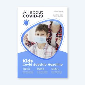 Informatief coronavirus flyer concept