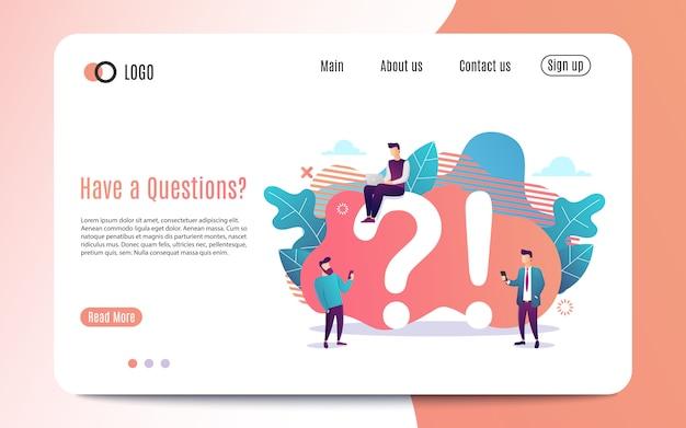 Informatieve affiche-inscriptie heeft een vragenbureau organisatorische behoeften.