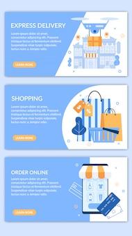 Informatieve banner instellen schriftelijke bestelling online plat instellen.