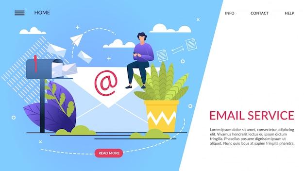 Informatieve banner is geschreven e-mailservice