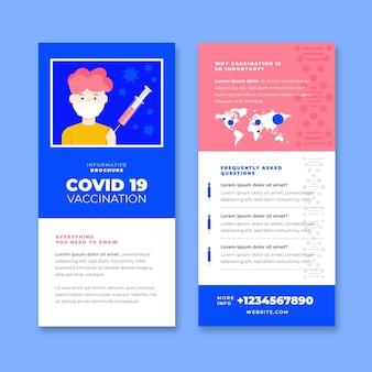 Informatieve brochure over vaccinatie tegen het coronavirus in plat ontwerp