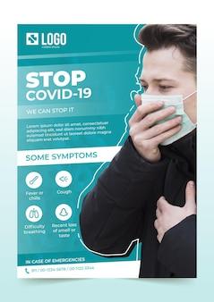 Informatieve coronavirus-flyer-sjabloon
