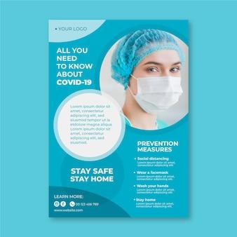 Informatieve coronavirus-flyer