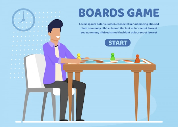 Informatieve flyer is geschreven borden game slide.