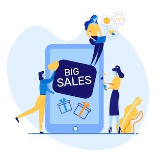 Informatieve flyer it geschreven big sales flat.