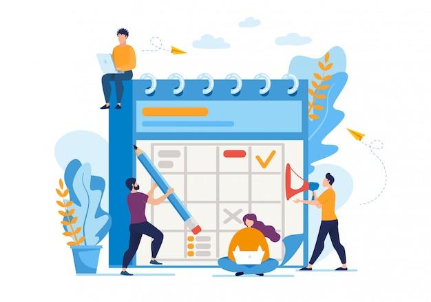 Informatieve folder dagelijkse bedrijfsplanning plat.