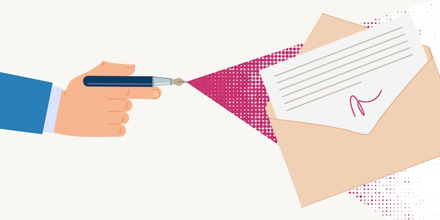 Informatieve poster digitale handtekening documenten