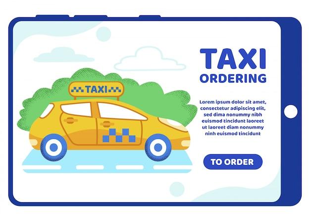 Informatieve poster inscriptie taxi bestellen