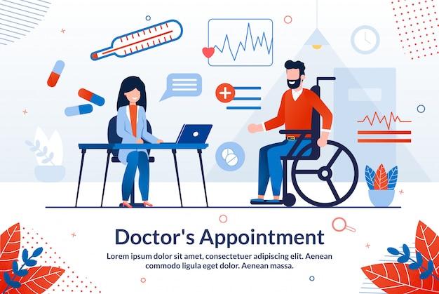 Informatieve poster is geschreven artsen afspraak.