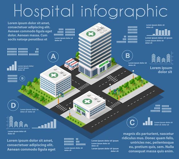 Infrastructuur ambulance en modern huis concept pictogram